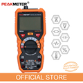 PEAKMETER multímetro voltímetro amperímetro PM18A con verdadero valor eficaz RMS de tensión AC DC resistencia de la capacitancia de frecuencia temperatura NCV de