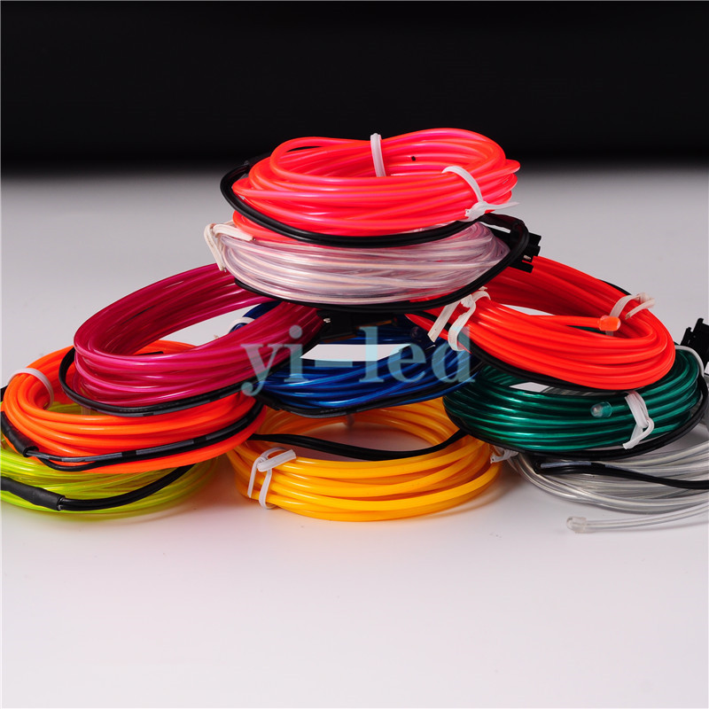 10 sets 3 Mt Flexible Neon licht EL draht Seil Rohr Red grün Gelb ...