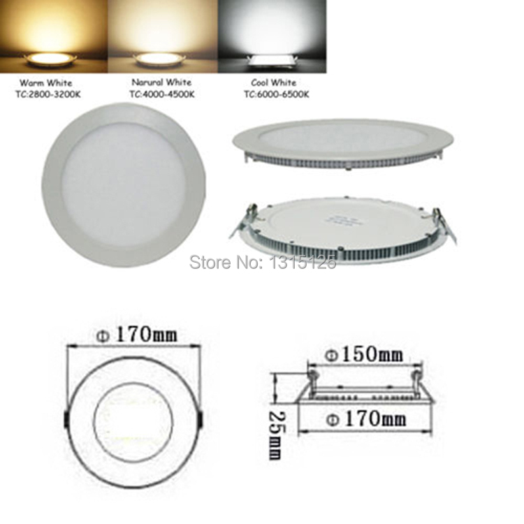 Ulthra thin high quality Dimmable 12W LED Panel Light round bright LED Recessed Ceiling Light wholesale LED down lamps