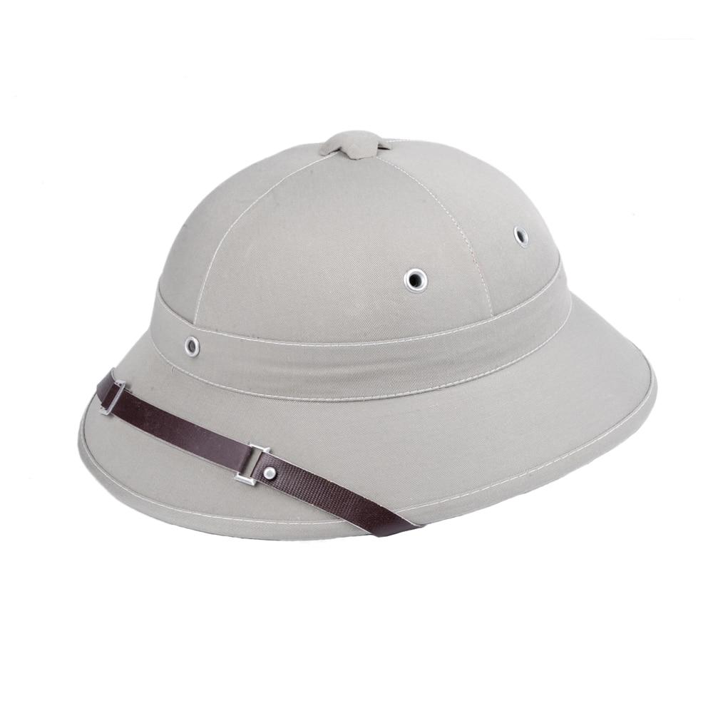a8e236da61185 Novelty Toquilla Straw Helmet Pith Sun Hats For Men Vietnam War Army ...