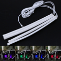 Car Styling 7 Colors RGB LED Strip Light Atmosphere Lamp Auto Interior Light Wireless Music Control + Remote / Car Charger