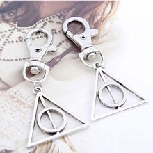 Creative Car keyring Ornaments Harry Potter Deathly Hallows Metal Tool Key Chain Keyring Gift(China (Mainland))