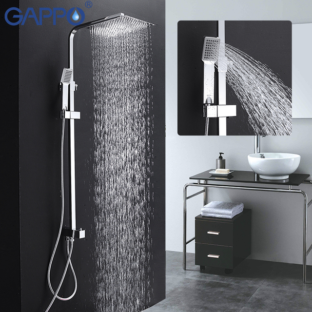 Gappo Bathroom Shower Faucet Set Bathtub Shower Walls Bathroom