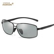 AORON Neuen Aluminium Magnesium Verfärbt sonnenbrille männer polarisierte Photochromen sonnenbrille fahren Sonnenbrille männer oculos de sol