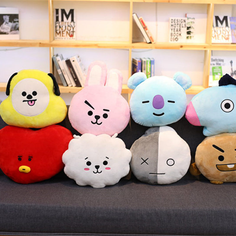 1pc 30cm*40cm Kawaii BTS Bangtan Boys Plush Pillow Sofa Cushion BT21 TATA VAN COOKY CHIMMY SHOOKY KOYA RJ MANG Kids Girls Gifts