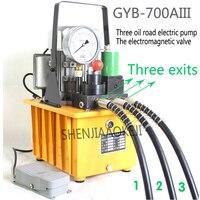 1PC 0.75KW Electric hydraulic pump 220V/380V Three oil circuit solenoid valve High pressure hydraulic oil pump GYB 700AIII