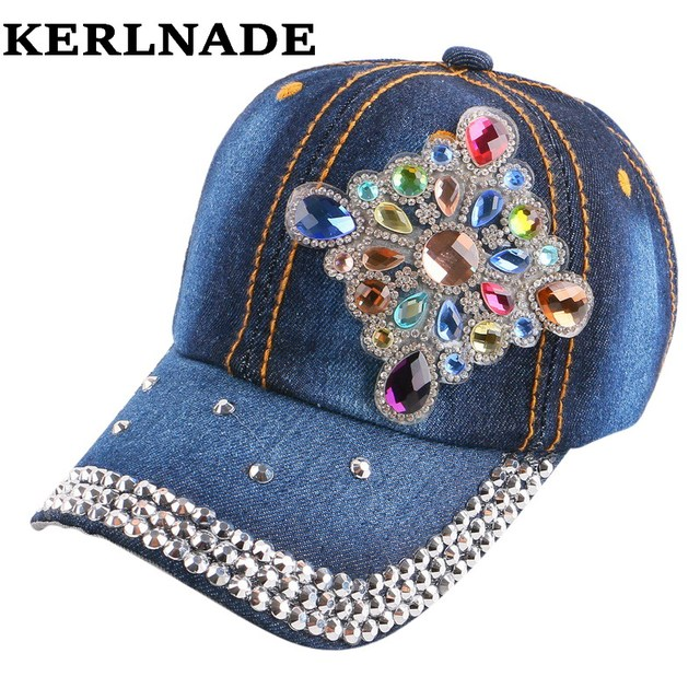 ad93568866fd3 new popular children brand baseball cap luxury bling floral flower  rhinestone outdoor active boy girl kid