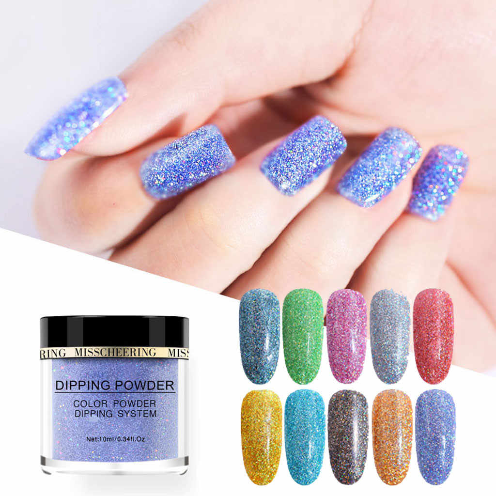 Dipping Powder Shiny Nail Art Polymer Acrylic Powder Nail Art Extension Dipping Glitter Powder makeup #2