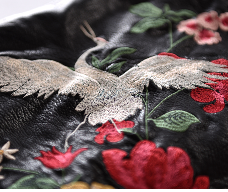 Retro A-Line Kunstleder Rock Neue Frauen Kontrastfarbe Blume Mini - Damenbekleidung - Foto 4