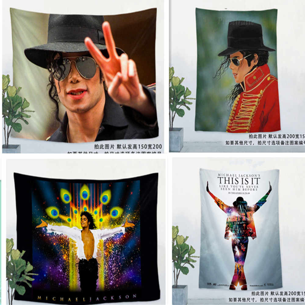 Michael Jackson Rock Music Poster Wall Sticker Hanging Painting Art Waterproof Cloth Polyester Fabric Flag Banner Bar Cafe Decor