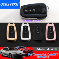 QCBXYYXH 4Colors High Quality Car Styling Zinc Alloy+Plastic Car Key Cover Auto Case For Toyota 8th Camry 2017 2018 Car Key Case