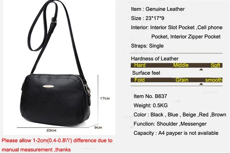 New 2015 Fashion Women Genuine Leather Messenger Bag Shoulder Bags Crossbody  Bolsos Carteras Mujer Marca Handbags Famous Brands01