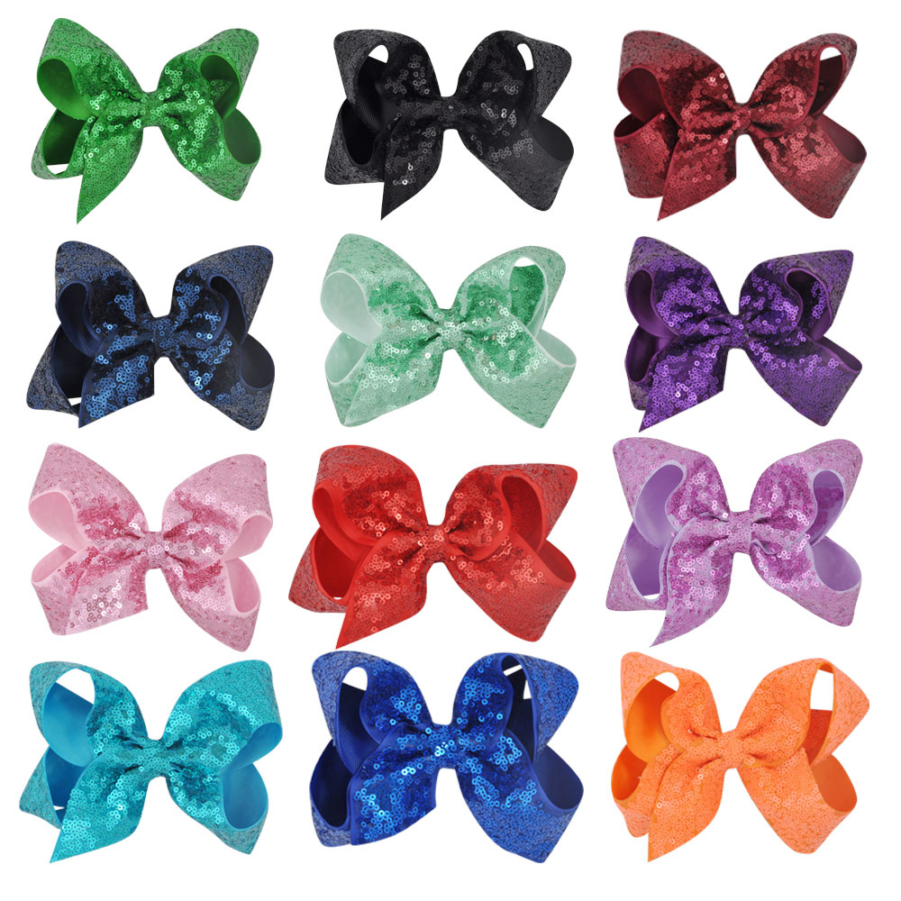 6 Inch Girls Hair Bows Accessories Girls Princess Children Cute