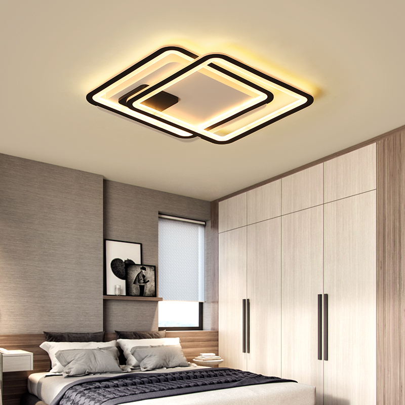 Living room bedroom modern ceiling lights Led aluminum avize AC85-265V ceiling lights square circles ceiling lamp for hallway шины michelin x ice xi3 225 55 r18 98h