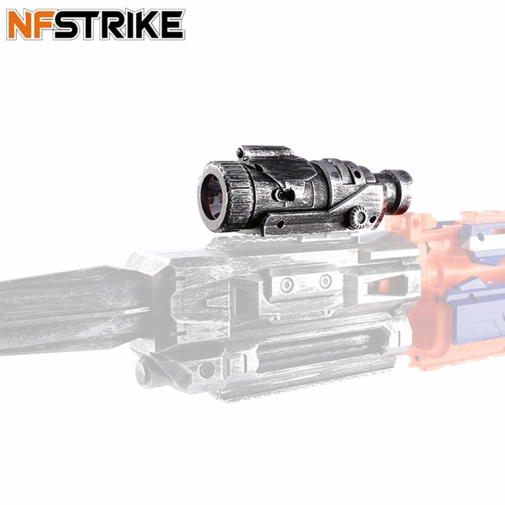 Silver Genteel Nfstrike Modified Part Tactical Flashlight Button Cell For Nerf Stryfe Retaliator Rapidstrik For Nerf Modulus Regulator Outdoor Fun & Sports Toys & Hobbies