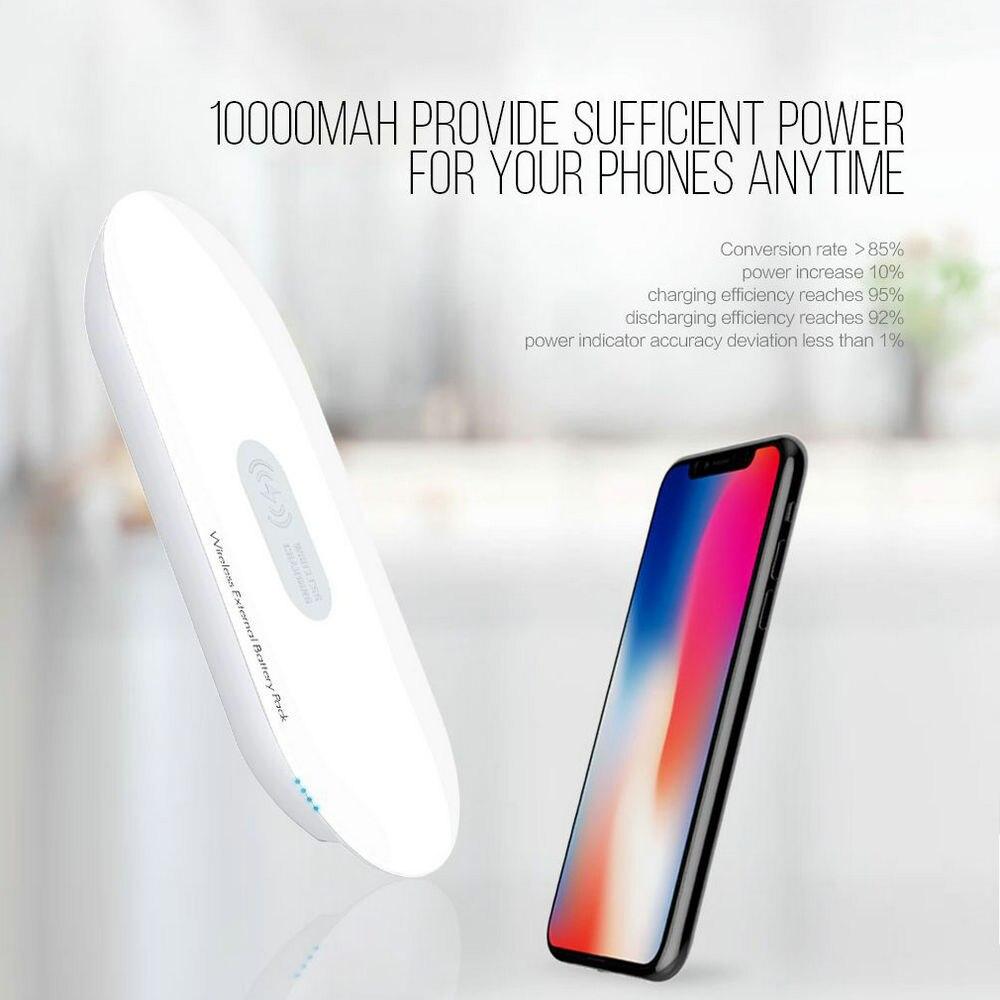 LDNIO chargeur sans fil Compact batterie externe LED 5000 mAh batterie de secours USB Li mince lumière Portable pour Xiaomi iPhone téléphone Portable