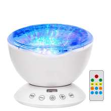 купить Ocean Wave Starry Sky Aurora LED Night Light Projector Novelty Lamp USB TF Nightlight Illusion For Baby Children bedside lamps онлайн