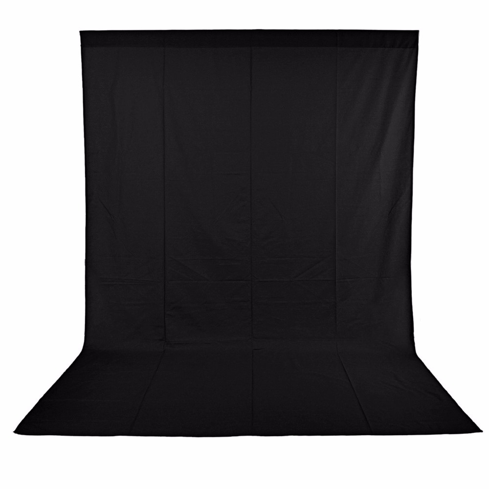 Neewer 3M x 6M PRO Photo Studio 100% Pure Muslin Collapsible Backdrop Background for Photography,Video and Televison - BLACK cy photo studio 10ft x 20ft 3m x 6m solid black muslin backdrop photography backgrounds backdrops hot selling