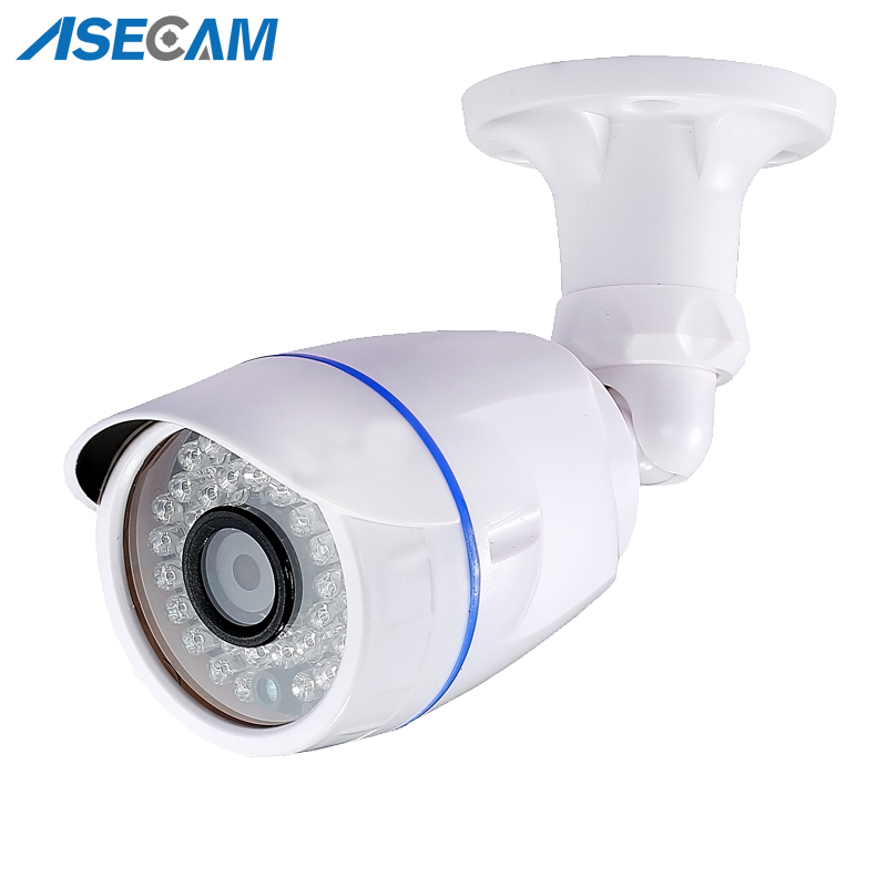 HD 1080P IP Camera Outdoor Waterproof POE White Bullet Security Network Onvif H.265 2MP Surveillance IE P2P Xmeye App