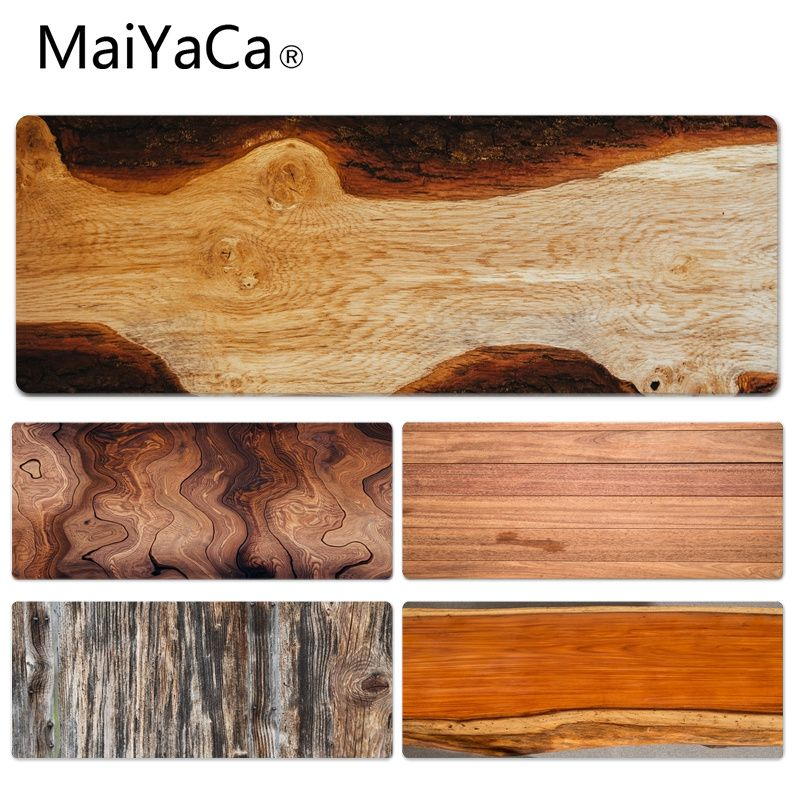 MaiYaCa Wood Grain mouse pad gamer play mats Size for 30x90CM Speed Version Gaming Mousepads maiyaca new designs math formula mouse pad gamer play mats size for 300 700 2mm and 300 900 2mm mousepad