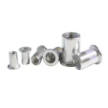 aluminum rivet nut rivnut nutsert flange metric blind M3 M4 M5 M6 M8 M10 flat head zinc plated threaded insert nut metric thread m3 m4 m5 m6 m8 m10 m12 304 stainless steel blind insert rivet nut rivnut brand new