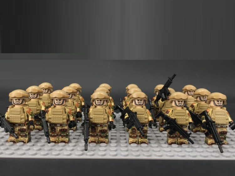 Image 5 - Desert US Special Forces Army military weapon accessories DIY mini figures Building Block Brick original mini figures toys-in Blocks from Toys & Hobbies