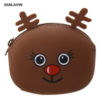 Top Women Coin Purse Wallet Kawaii Cartoon Animal Silicone Jelly Pop Coin Bag Purse Girls S