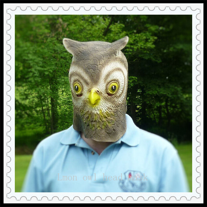 Online Shop Free shipping Halloween Party Cosplay Latex Owl Head Mask Creepy Animal Costume Theater Full Head Owl Mask free size in stock | Aliexpress ... & Online Shop Free shipping Halloween Party Cosplay Latex Owl Head ...