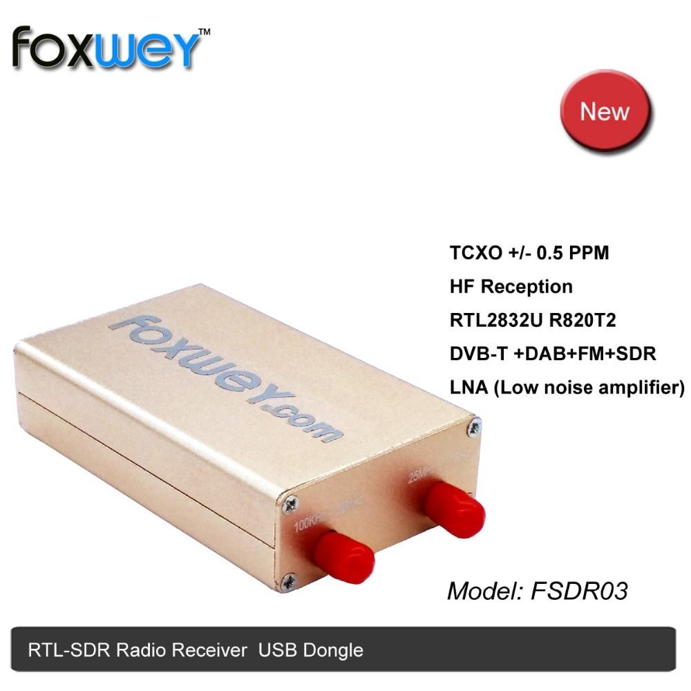 Nouveau RTL SDR avec RTL2832U R820T2 TXCO 0.5 PPM SMA HF réception amplificateur à faible bruit à bande complète