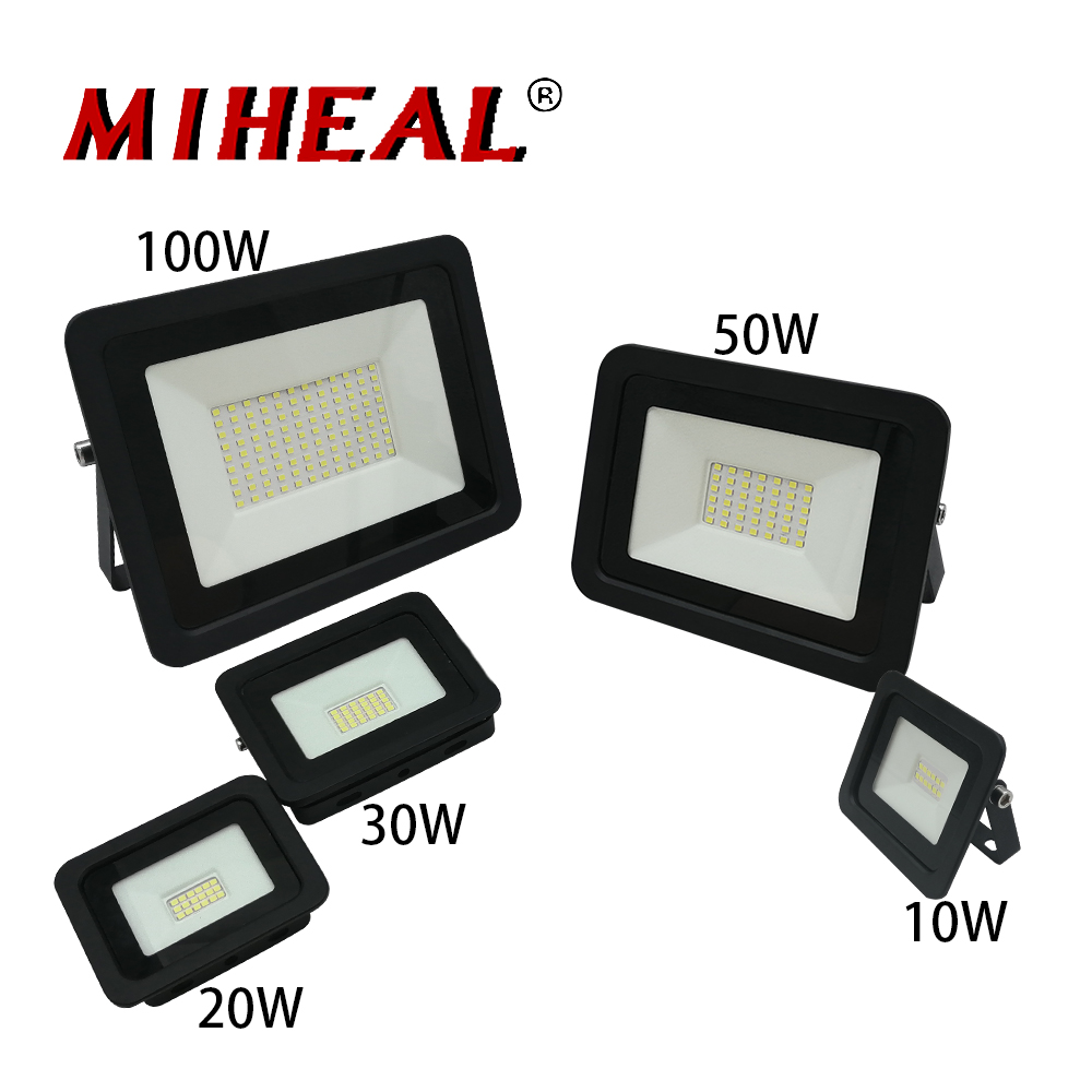 2pcs <font><b>LED</b></font> FloodLight <font><b>10W</b></font> 20W 30W 50W 100W <font><b>Reflector</b></font> Flood Light 110V/220V IP68 Spotlight Outdoor Lighting Warm Cold White <font><b>Led</b></font> image