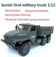 Remote Control Toys RC Car 1:12 2.4G Radio Controll 6wd Track off road Soviet Urals Military Truck Car RTR VS Wpl B 16 JJRC Q60