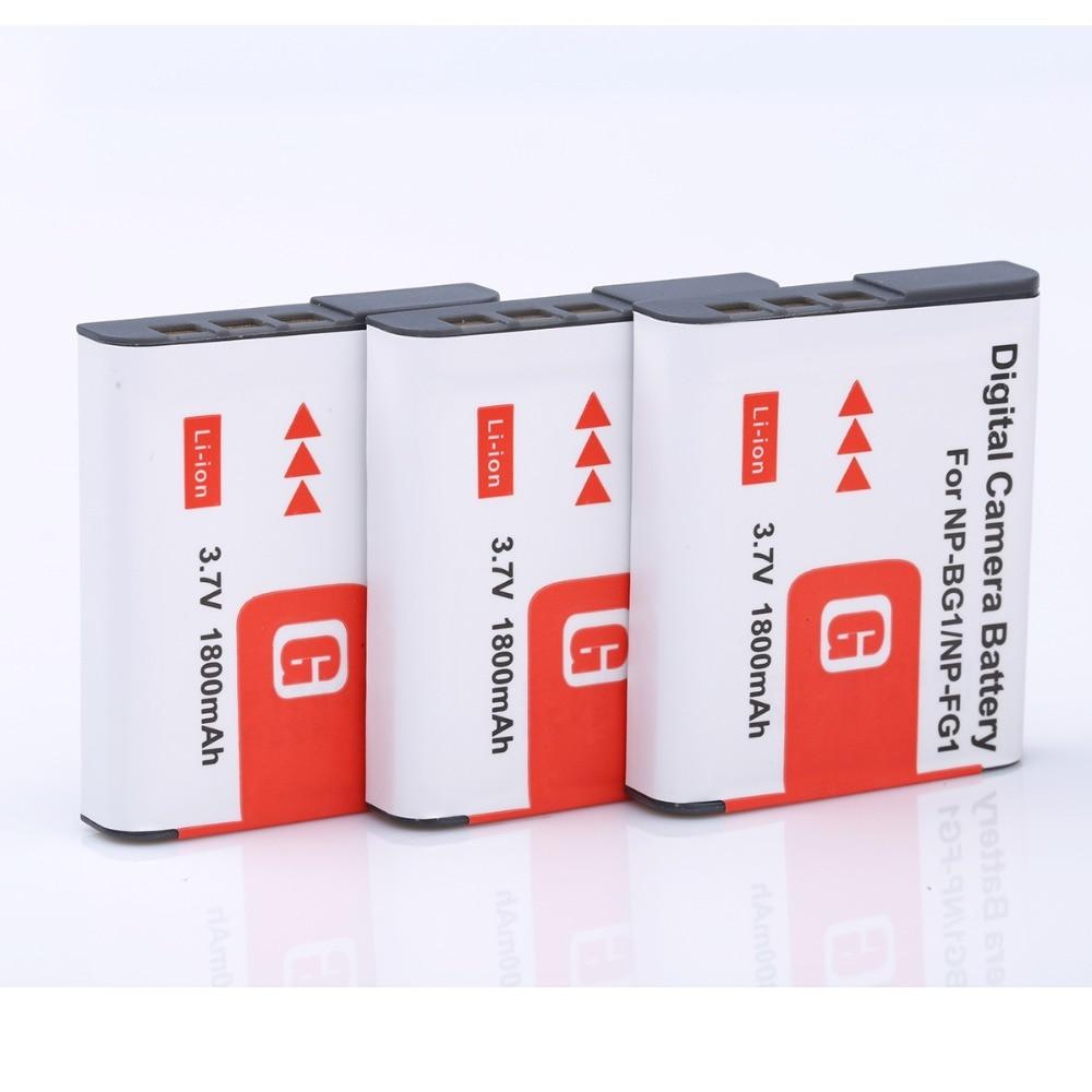 3* 1800mah NP-BG1 NP BG1 NP-FG1 Battery For SONY Cyber-shot DSC-H3 DSC-H7 DSC-H9 DSC-H10 DSC-H20 DSC-H50 DSC-H55 DSC-H70 DSC-H90 sony cyber shot dsc rx100 ii