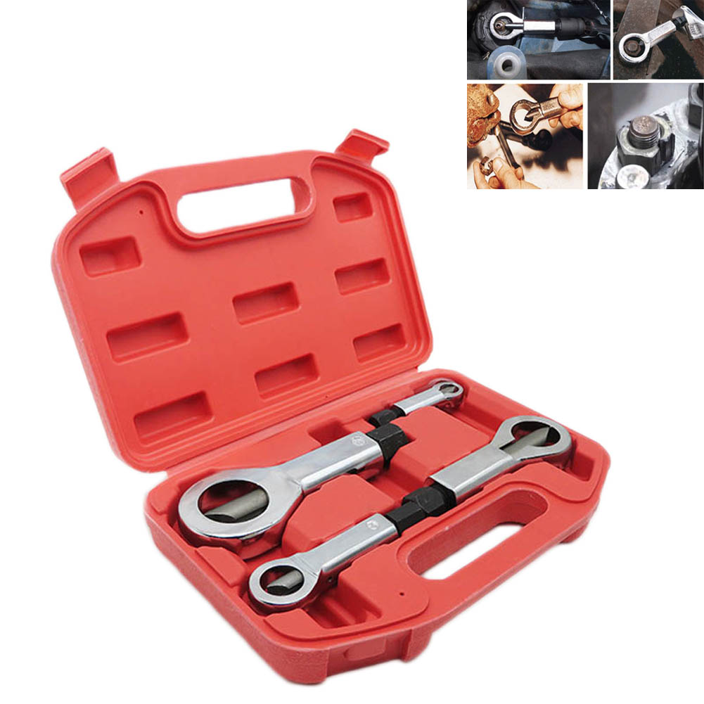 4pcs Nut Splitter Cracker Remover Extractor Tool Set 9-27mm Rounded Nut Removal CLH@8 цена