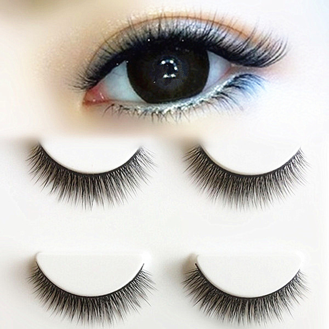 YOKPN New 3D Stereo Multilayer Fake Eyelashes Black Cotton Stalk Eyelash Natural Simulation False Eye Lashes Makeup Tips 3 Pairs 1