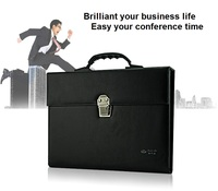 Leather Office Conference A4 Business Portfilio Manager Document Bag File Folder Holder Brief Case With 6