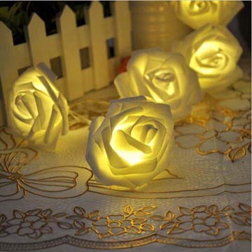 led rose flower christmas light bulb covers christmas wedding fairy party valentines day decoration light string