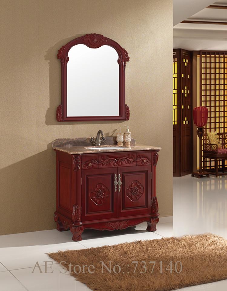 muebles de madera muebles de bao de madera slida vanidad de bao con espejo y lavabo muebles agente de compra al por mayor pre
