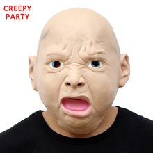 Angry Baby Mask Realistic Latex Party Mask Funny Halloween Adult Cosplay Costume Masquerade Masks