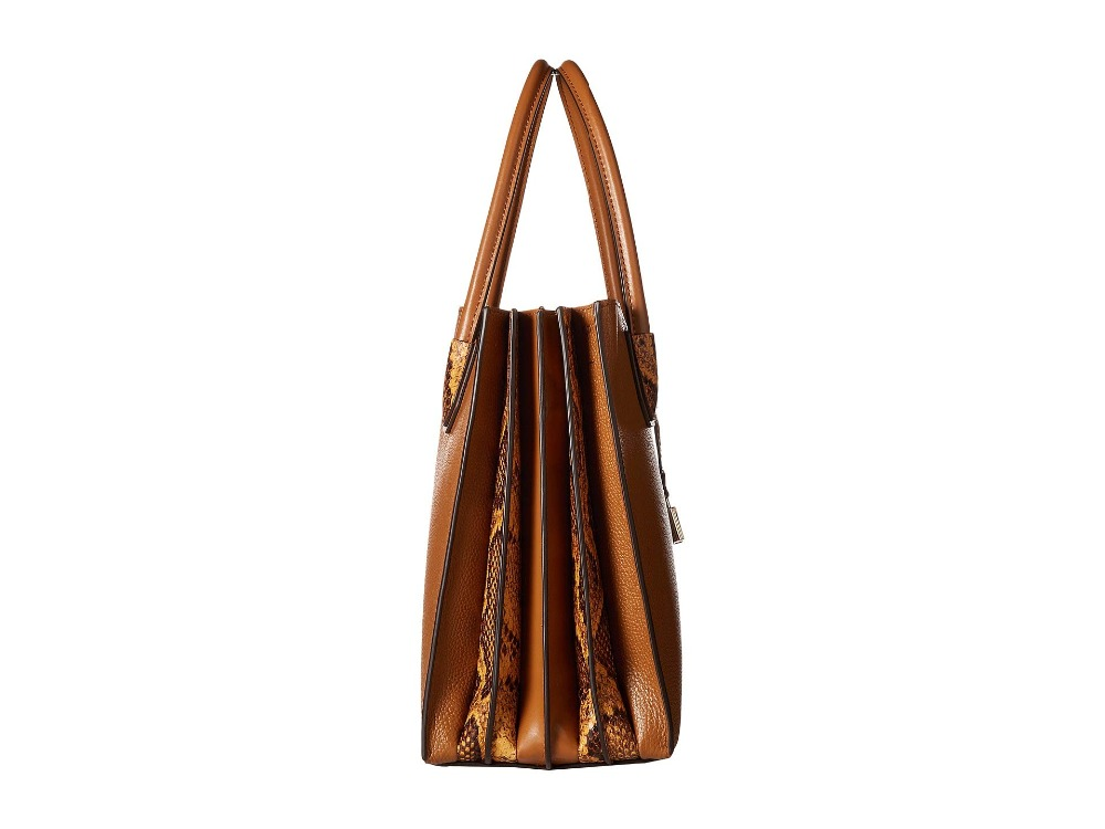 d86c4a7e2cde43 Michael Kors Large Leather Mercer Accordion Tote Bag (Acorn/Gold) Luxury  Handbags For Women Bags Designer by MK-in Top-Handle Bags from Luggage &  Bags on ...