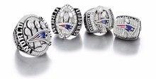 4 unids/set 2015 2001 2003 2004 Anillo de campeón de Los New England Patriots Super Bowl championship anillos Declaración de Joyería de Los Hombres