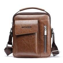 Новая брендовая мужская сумка на плечо бизнес-портфель кожаная мужская сумка через плечо для повседневной носки высокого качества сумка-мессенджер дорожная сумка
