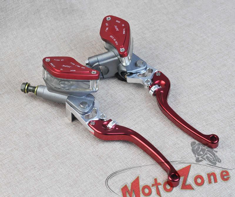 Ensemble de pompe de frein d'embrayage hydraulique moto gris titane rouge levier maître-cylindre universel pour honda yamaha kawasaki Suzuki