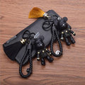 Fashion Bear Auto Keyring PU leather Strap Keychain Bomgom Cartoon Popobe Gloomy Bear Key Chain Gifts Tassel Keychain Wholesale