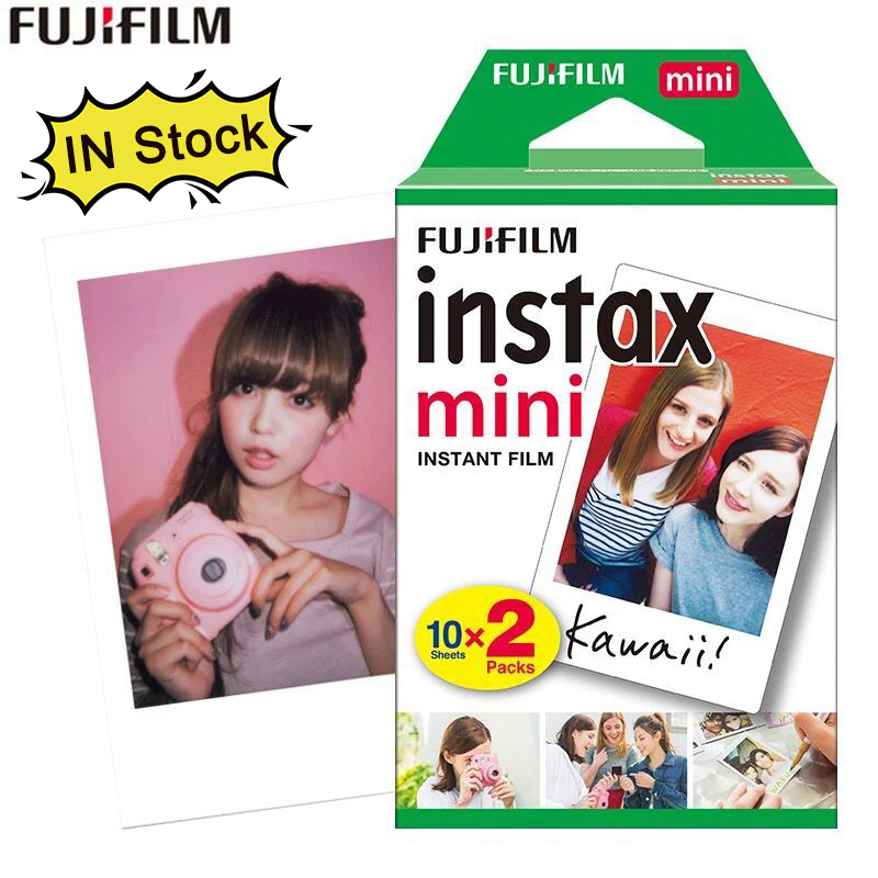 Original 20 sheets Fujifilm Instax mini 8 films white Edge 3 Inch for Instant Camera 7 9 25 50s 70 90 sp-1 sp-2 Photo paper image