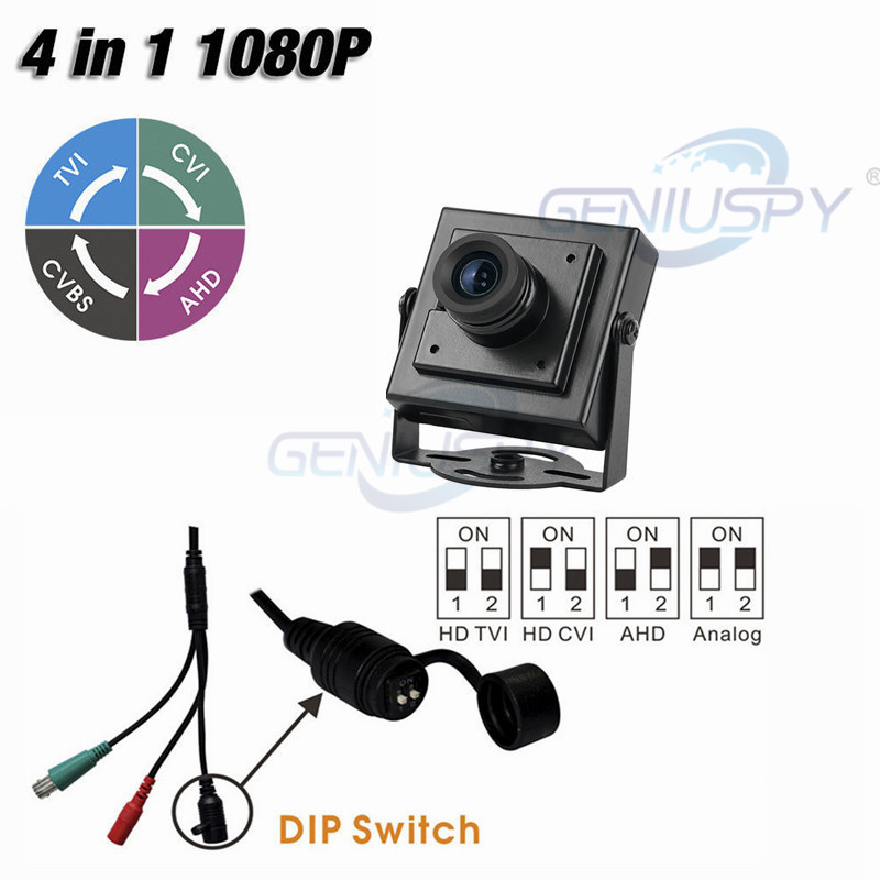 New Small Size 34*34mm HD TVI HD CVI HD AHD 960H 2MP 1080P 4 IN 1 Mini Square Camera CCTV AHD With DIP Switch&UTC Function tlp627 1 dip 4 p627