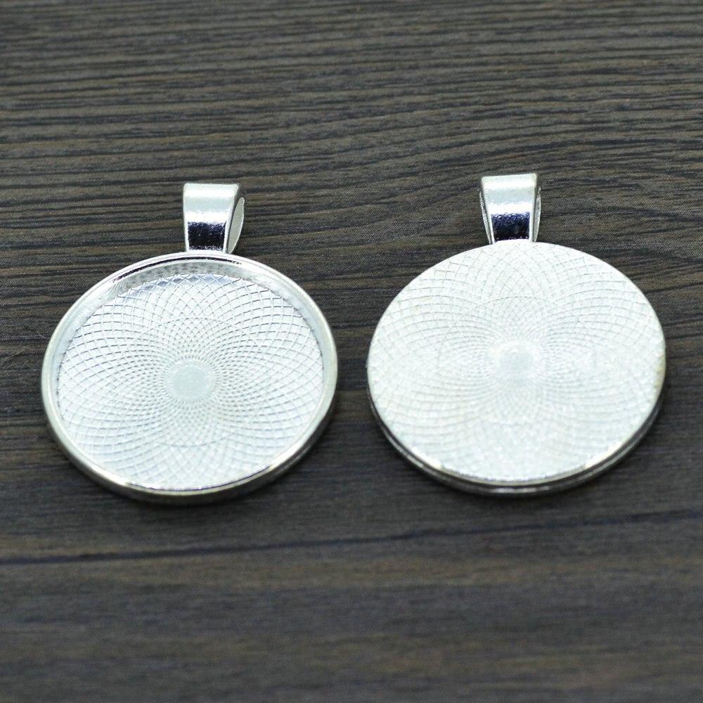 25mm silver plate necklace pendant setting cabochon cameo base tray liebe engel 10pcs 25mm silver color necklace pendant setting cabochon cameo base tray bezel blank jewelry aloadofball Gallery