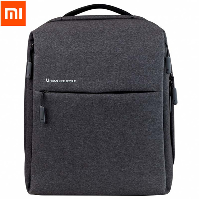 Original xiaomi Minimalist Backpack XiaoMi Backpack Urban Life Style Polyester Simple Schoolbag laptop bag for business рюкзак xiaomi simple urban life style backpack grey
