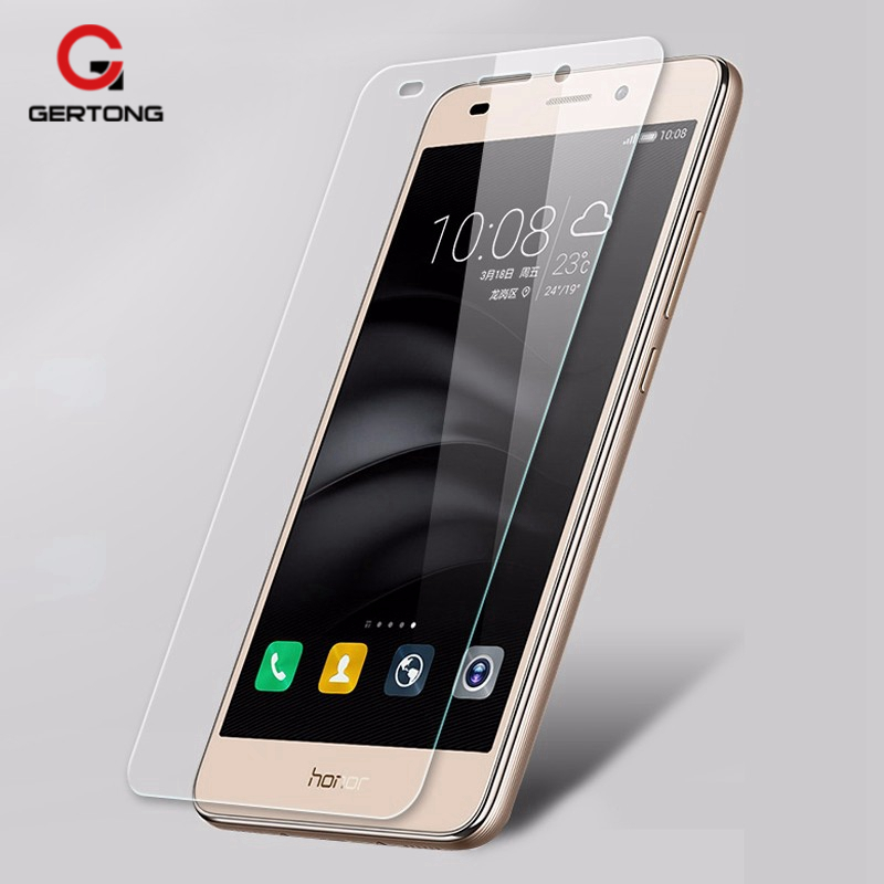 GerTong Screen Protector Film For Huawei P8 Lite P10 Plus Y6 ii Pro 4A  Tempered Glass For Huawei Honor 7 6 4C Pro 4X Case Glass-in Phone Screen