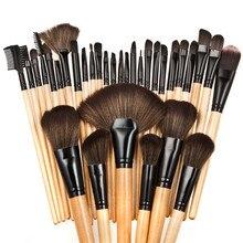 32 pcs Pincéis de Maquiagem Profissional Set Cosméticos Fundação Sombra Delineador Compõem Kits de Escova Pincéis de Maquiagem Ferramentas