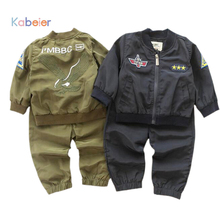 2016 New Autumn Kids Boy Tracksuit Clothing Set Sports Suit Infant 6M 4T Embroidered Eagle Soccer